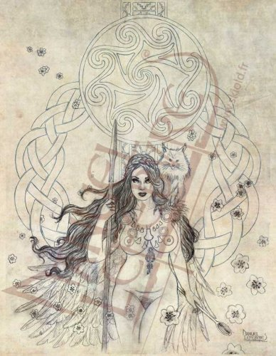 Illustration-mythologie-nordique-Freyja {JPEG}